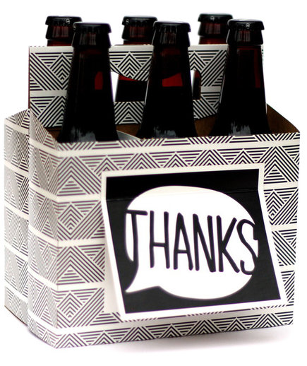 Beer Greetings 'Thanks' Six Pack Greeting Card Box