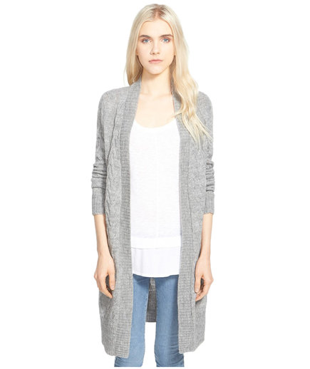 Splendid Open Front Cable Knit Duster