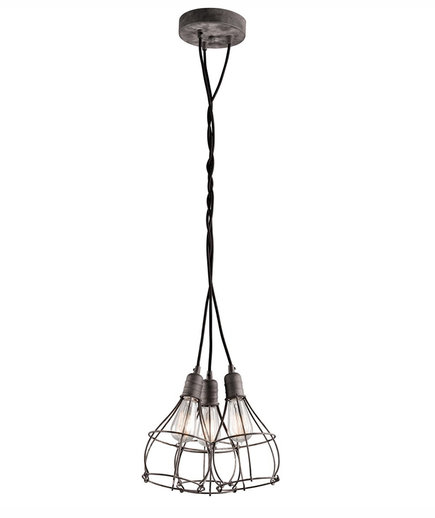 Industrial Cage 3 Light Pendant