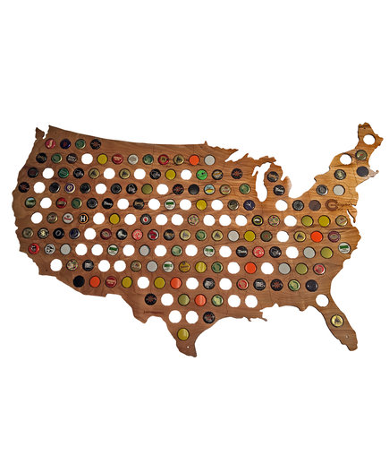 Bottle Cap Map