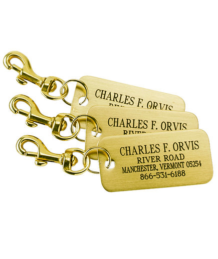 Engraved Brass Luggage Tags