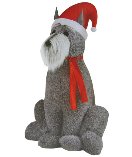 Inflatable Furry Schnauzer Dog