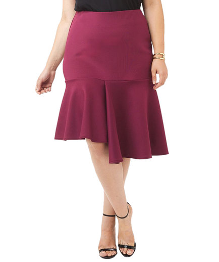 Gwynnie Bee Asymmetrical Ruffle Skirt