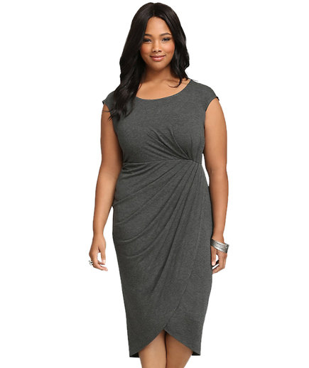 Torrid Shirred Tulip Midi Dress