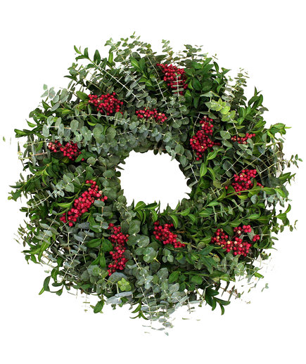 Eucalyptus and Pepper Berry Wreath