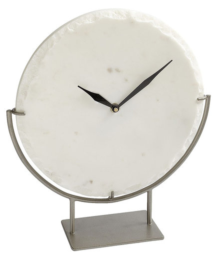 White Marble Clock on Stand