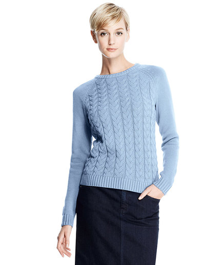 Lands' End  Drifter Cable Sweater