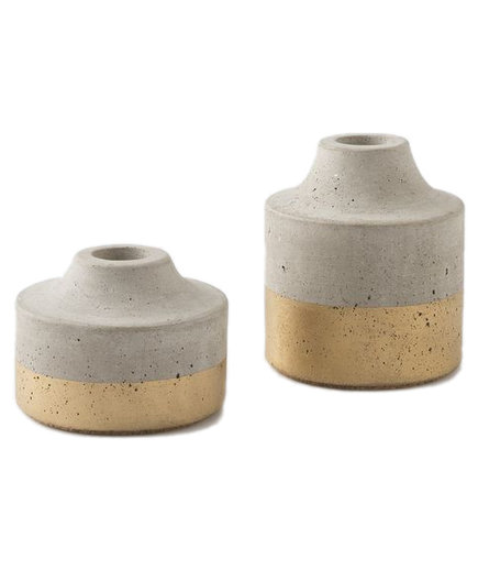 Painted Concrete Candleholder