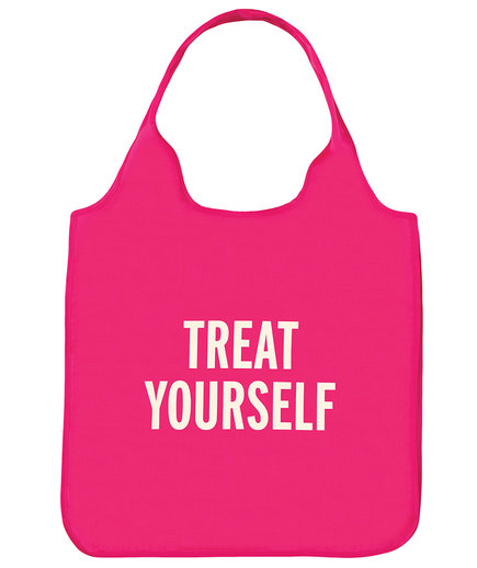 Treat Yourself Reusable Shopping Tote