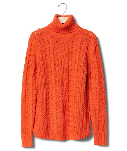 Gap Cable Knit Turtle-Neck Sweater