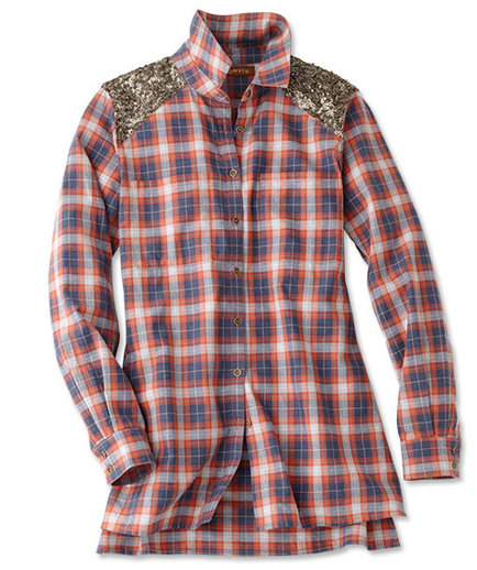 Orvis Embellished Flannel Tunic