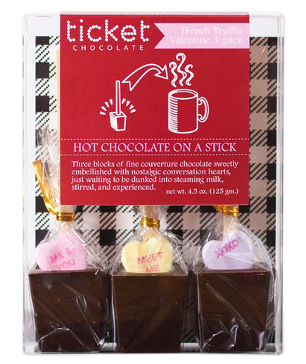 Ticket Chocolate Valentine's Chocolate With Conversation Heart Singles