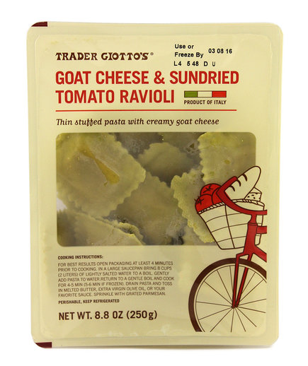 Trader Giotto's Goat Cheese & Sun Dried Tomato Ravioli
