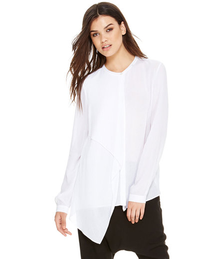 DKNY Drape Front Button Thru Shirt