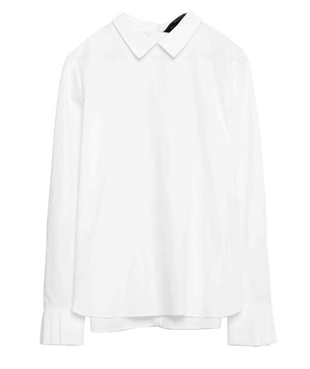 Zara Top With Pleated Cuffs