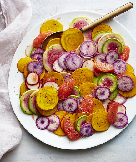 Grapefruit, Beet, and Radish Salad (Farmer's Market Finds: Beets)