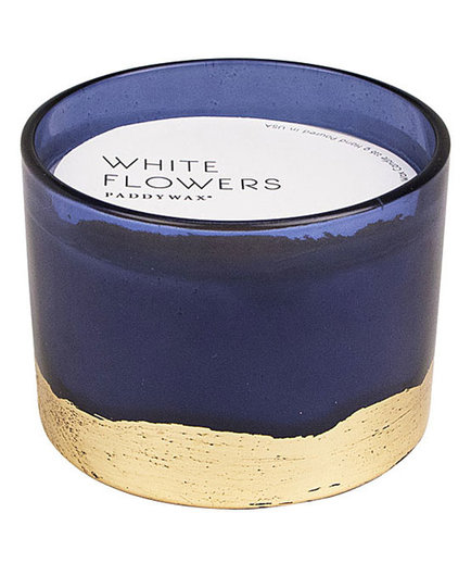 White Flowers 3-Wick Gilt Candle
