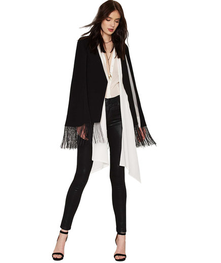 Lavish Alice Swing Queen Tassel Cape Coat
