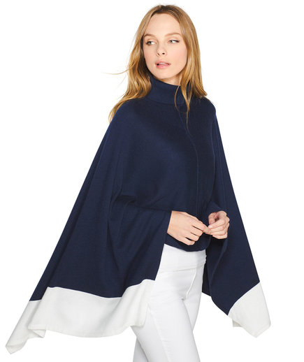 White House Black Market Colorblock Jersey Poncho