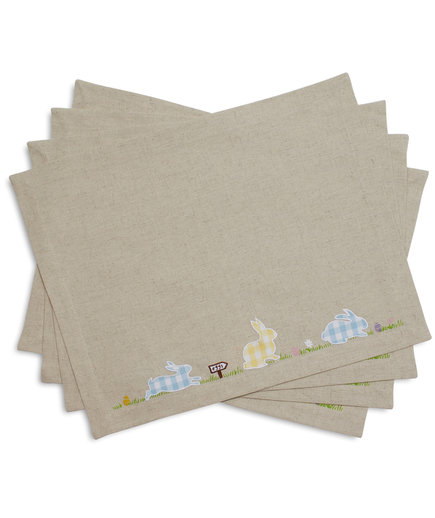 Gingham Easter Bunny Placemats
