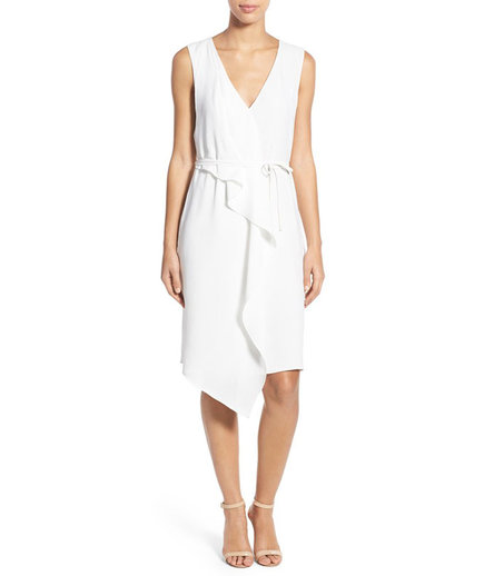 Adrianna Papell Drape Front Faux Wrap Dress