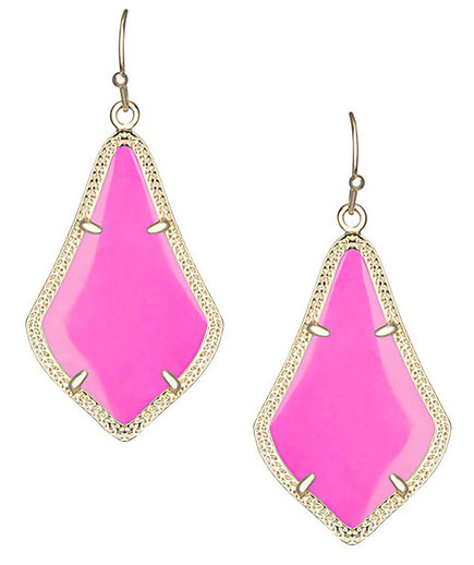 Alex Earrings in Magenta