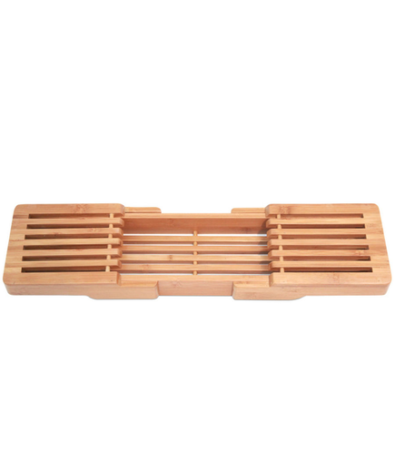Bamboo Adjustable Bathtub Caddy