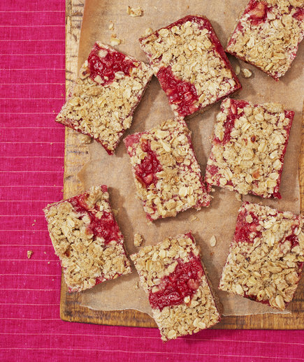 Strawberry Rhubarb Crumb Bars (Farmer's Market Finds: June 12th)