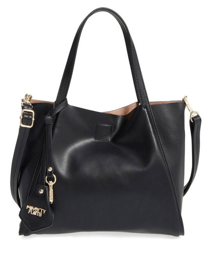Poverty Flats 'Mini Sport' Faux Leather Shopper