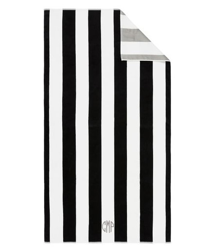 Reversible Awning Stripe Beach Towel