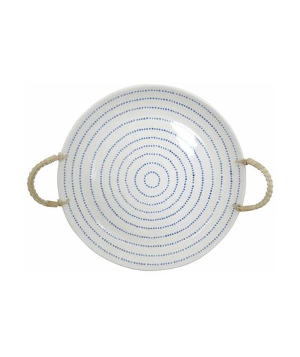 Stoneware Tray with Rope Handle