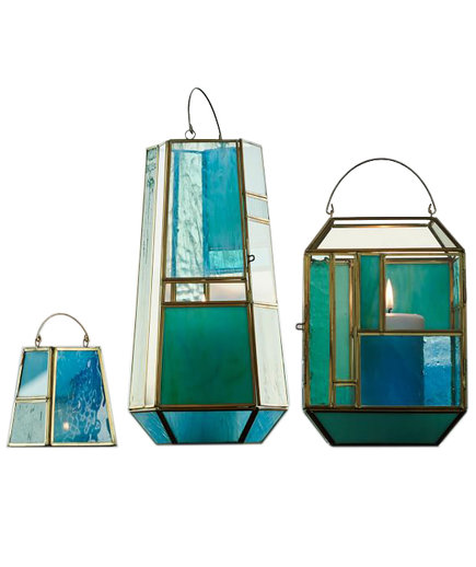 Paneled Glass Lanterns