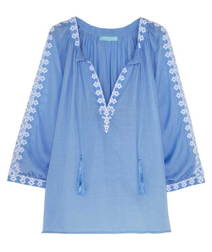 Melissa Odabash Anastasia Embroidered Top