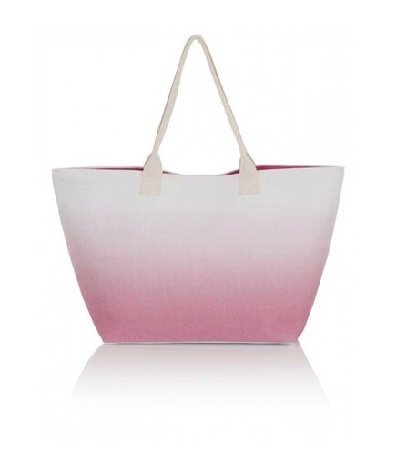 South Beach Pink Ombre Beach Bag