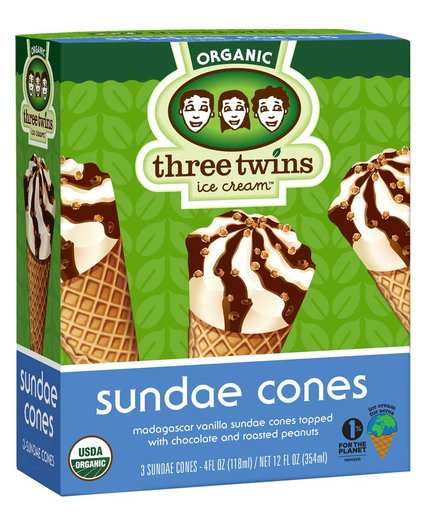 Three Twins Sundae Cones