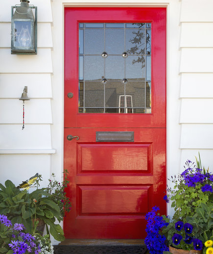 How To Paint A Front Door how to paint a front door | real simple