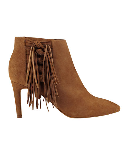 Marc Fisher Tune Pointy Toe Fringe Dress Bootie