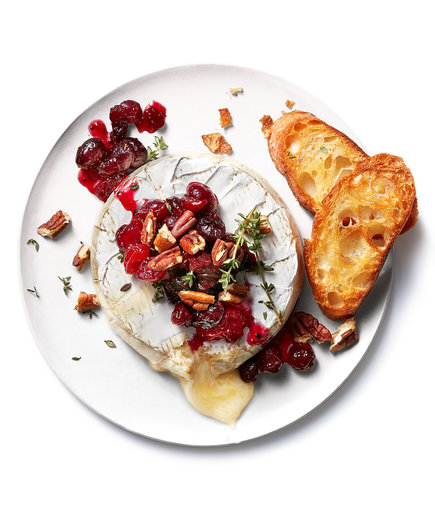 Baked Brie With Cranberry Compote and Pecans (Leftover Cranberry Sauce Recipes)