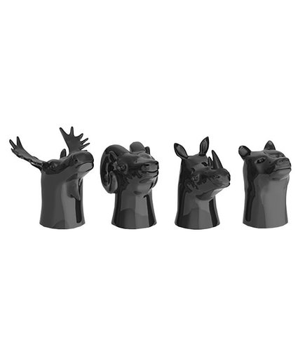 Animal Head Ceramic Shot Glasses