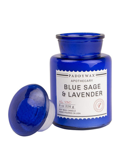 Paddywax Apothecary Collection Jar Candle in Blue Sage/Lavender