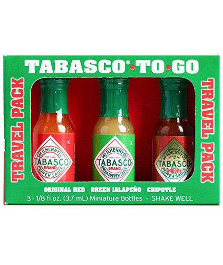 Tabasco Mini To Go Travel Hot Sauces