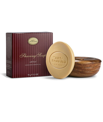 Sandalwood Shaving Soap With Wooden Bowl