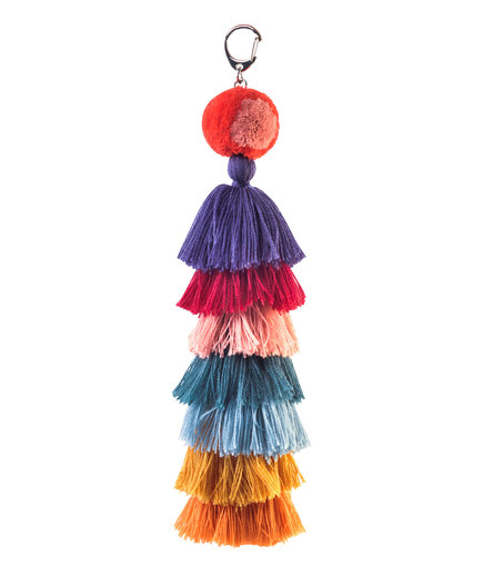 Verloop Stacked Knit Tassel Bag Charm