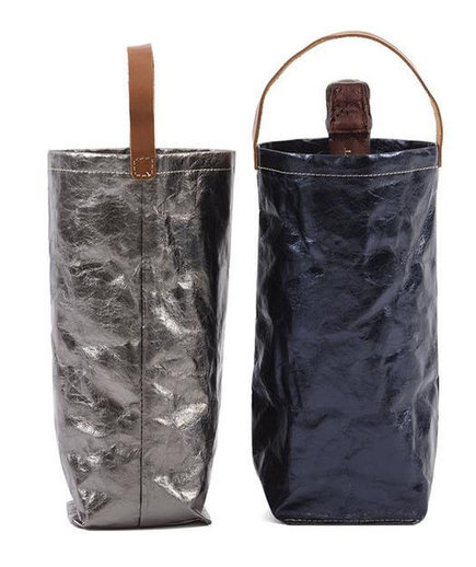 Metallic Wine Bag