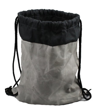 Waxed Canvas Drawstring Bag