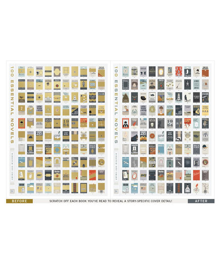 100 Essential Books Poster