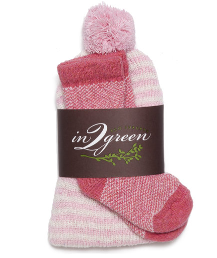In2Green Eco Baby Hat & Sock Set