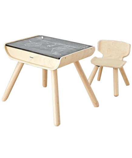 The Land of Nod Toddler Desk and Chair Set