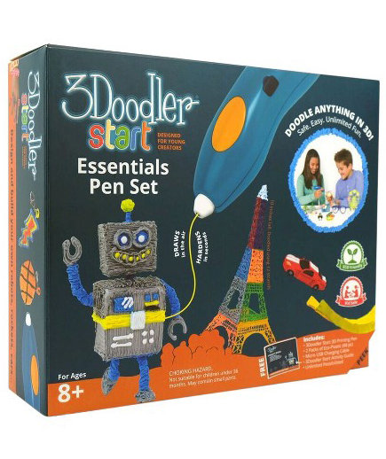 3Doodler Start Kid-Safe 3D Printing Pen Essential Set