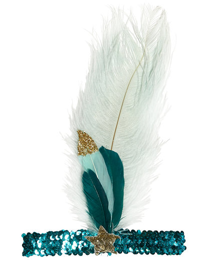Mermaid Tears Feather Headband